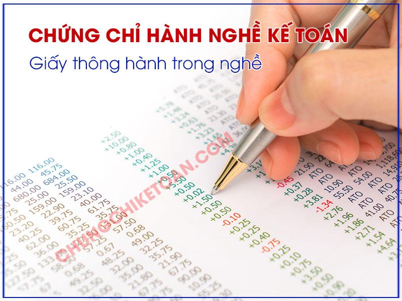 Chứng chỉ hành nghề kế toán viên