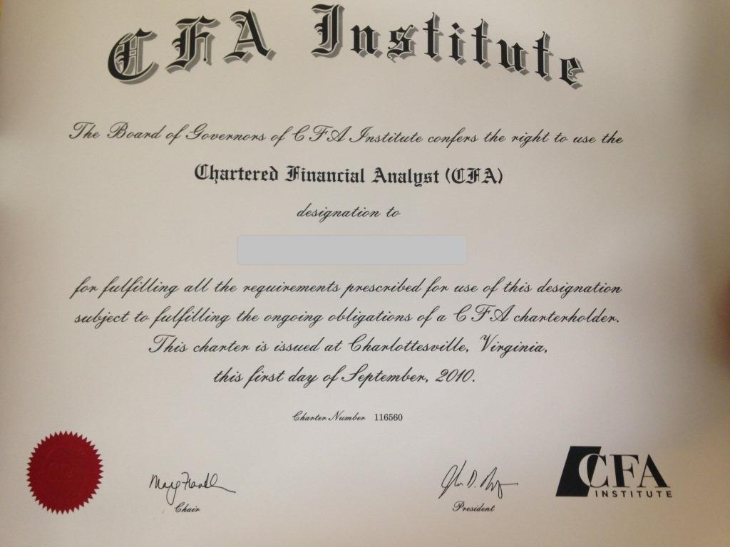 Chứng chỉ CFA